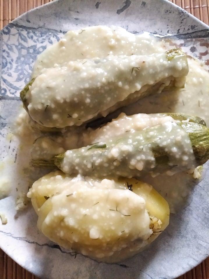 Κολοκυθάκια λεμονάτα γεμιστά στο φούρνο