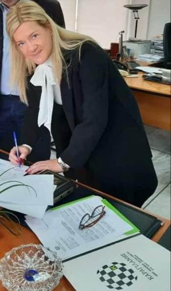 Ορκωμοσία της νέας Κοινοτικής Συμβούλου, Ελένης Ρούσσου